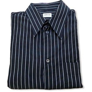 Armani Collezoni Long Sleeve Button Down Shirt Med